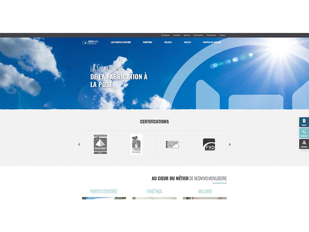 site neovivo menuiserie