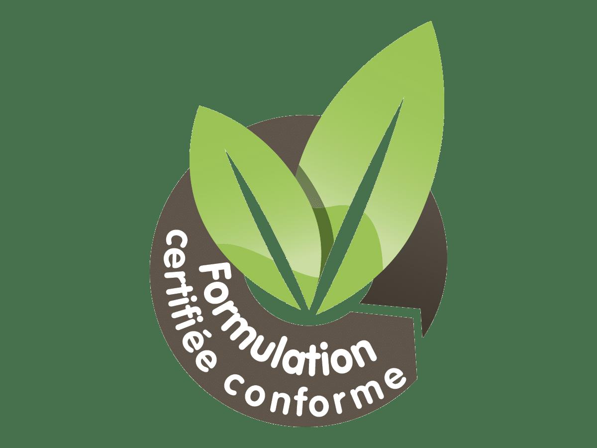 Produit formulation certifiée conforme