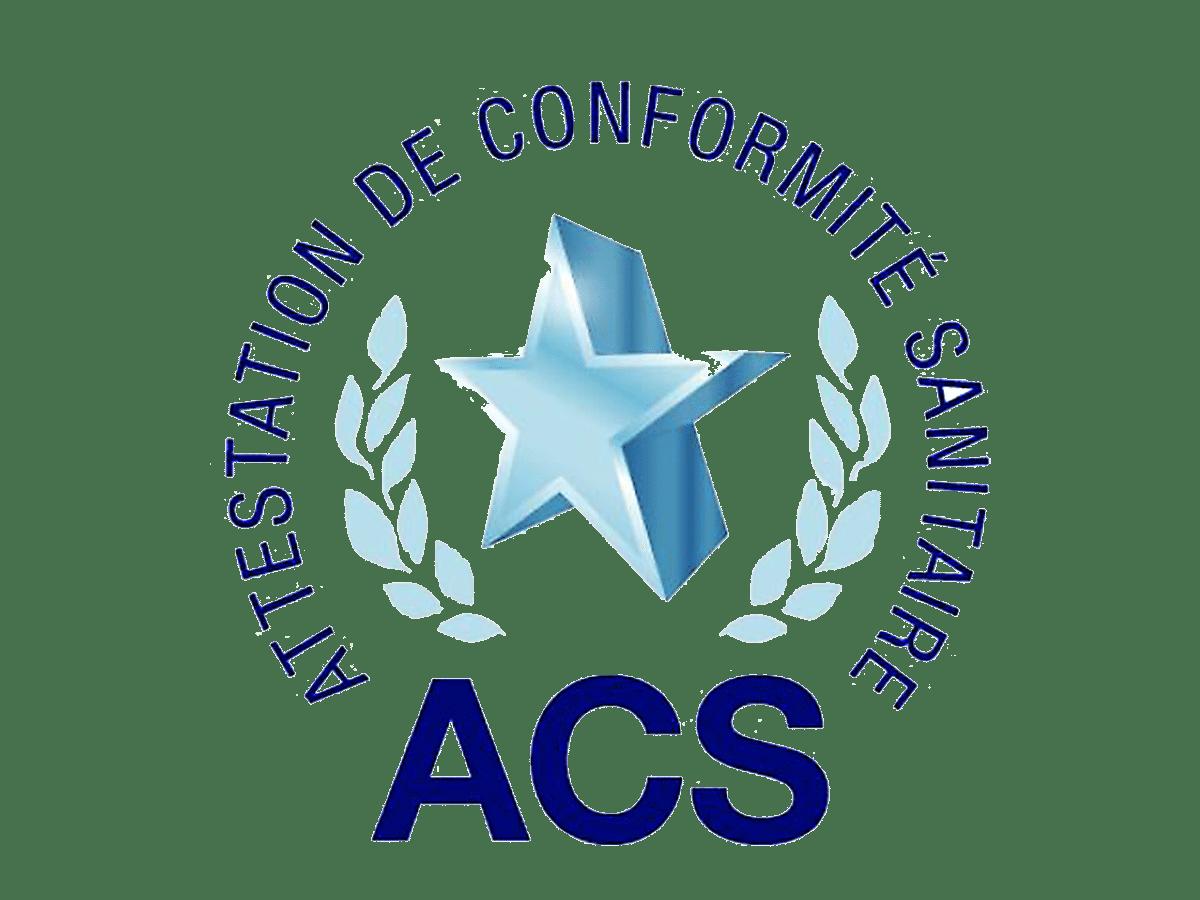 Logo certification conformité sanitaire ACS