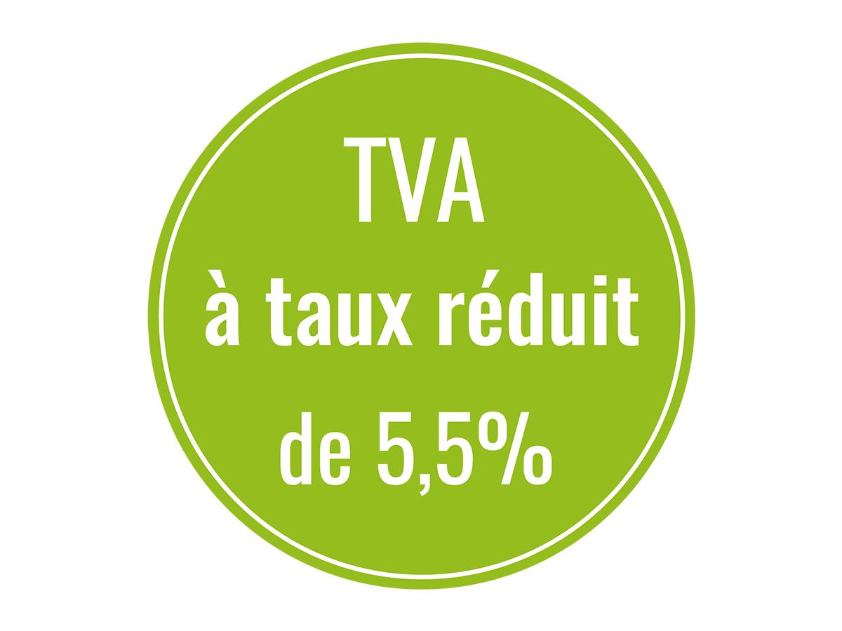 Pastille TVA à taux réduit de 5,5%